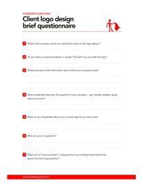 design brief logo this logo design brief questionnaire can be used to help