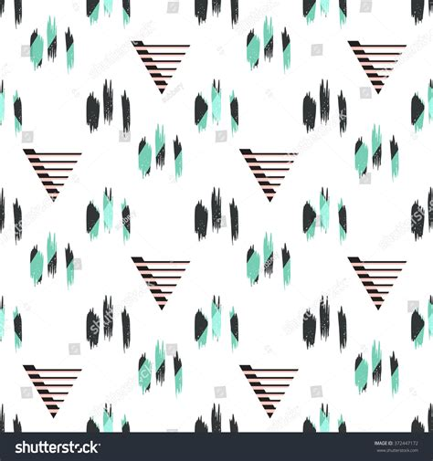 background pattern brushes hipster hand drawn brush chevron seamless stock vector
