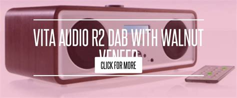 The Girly Spot Audio by Vita Audio R2 Dab With Walnut Veneer Lifestyle