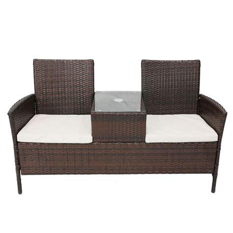 outdoor wicker bench cushions bentley garden rattan companion seat love duo jack jill