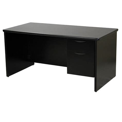 Desk With Locking Drawer by Of650 Two Drawer Desk Lockingblack