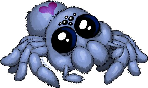 Art Stickers For Walls quot cute blue spider quot stickers by bogleech redbubble