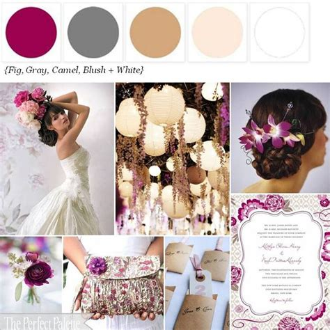 wheat berry a palette of fig camel antique gold white wedding grey and slate wedding