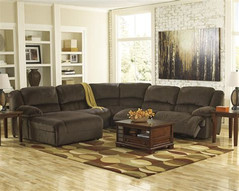 ashley sectional sofa with chaise reclining sectional with left press back chaise by