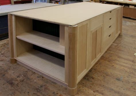 kitchen island shelves dorset custom furniture a woodworkers photo journal the kitchen island and out