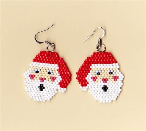 patterns christmas jewelry 519 best beaded christmas earrings images on pinterest