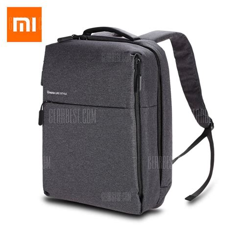 Xiaomi Mi 14 Inch Style Backpack Leisure Sports Bag Grey 32 with coupon for original xiaomi 14 inch style polyester leisure backpack gray from
