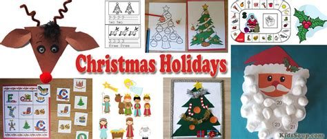 christmas holidays activities and lessons kidssoup