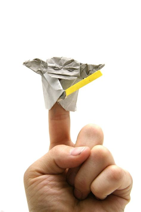How To Make An Origami Yoda Finger Puppet - origami wars finger puppets origami yoda