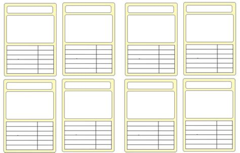 card template ks2 blank educational top trumps template by andream