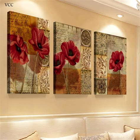 art painting for home decoration 3 piece canvas art flowers paintings on the wall art