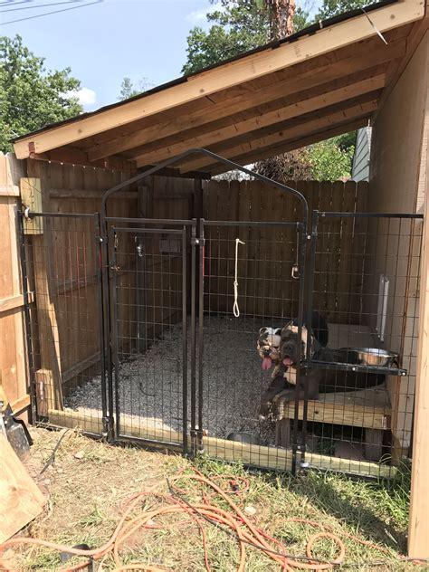 built  dog kennel   side   shed doghousekennel