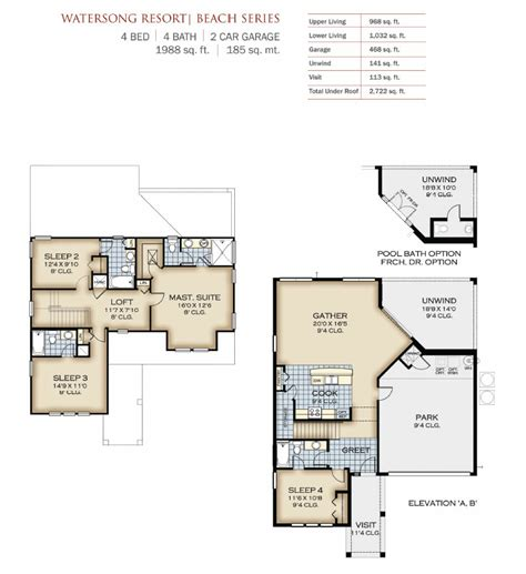 naples floor plan watersong resort by park square homes new homes and