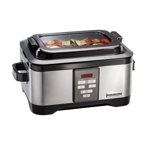 Kitchen Toasters Hamilton Beach Professional 6 Quart Sous Vide Slow Cooker