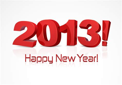 happy new year 2013 vector vecteezy com