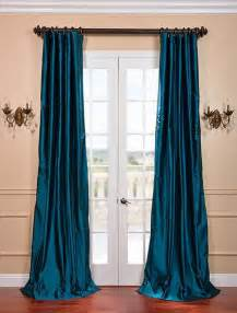Teal Blue Curtains Drapes Tahitian Teal Silk Taffeta Curtain Curtains San Francisco By Half Price Drapes