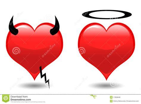 imagenes de corazones a la mitad corazones 193 ngel y diablo stock de ilustraci 243 n