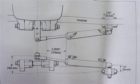 boat hydraulic steering hard to turn left teleflex seastar hc 5370 3 side mount outboard cylinder