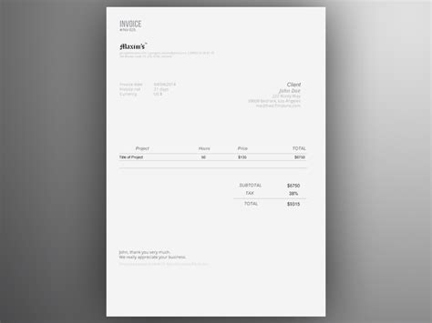 invoice template ai design adobe illustrator