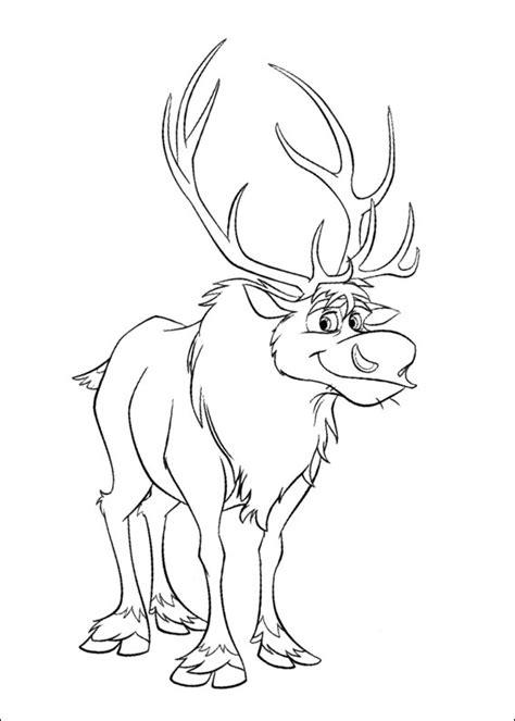 Dibujo para colorear de Sven de la película Frozen