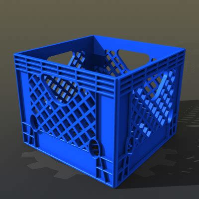 plastic crate plastic milk crate 3d model