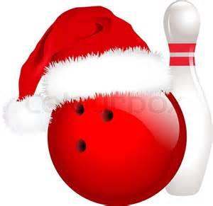 christmas bowling vector colourbox