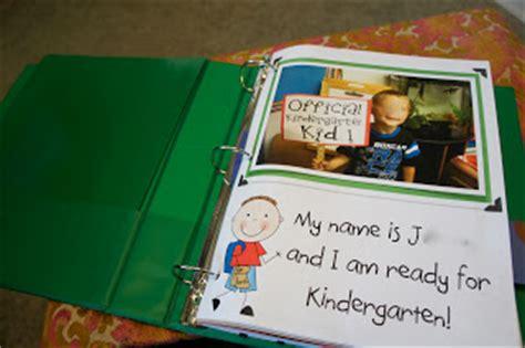 Kindergarten Kiosk Creating A Portfolio Memory Book Measuring Growth One Sle At A Time Children S Portfolio Template Free