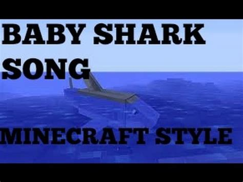 baby shark xmas version baby shark song minecraft edition youtube