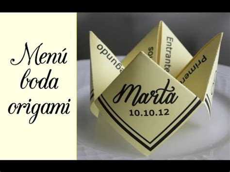 Origami Menu - wedding idea menu origami