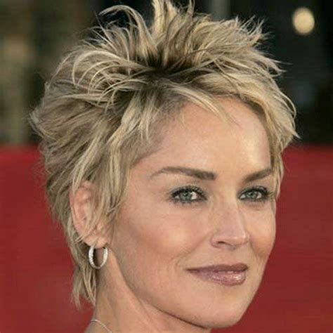sharon stone short hair on round face 20 pixie haircuts for women over 50 short hairstyles