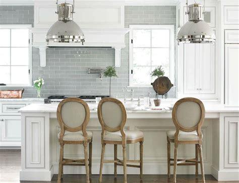 kitchen alluring white industrial kitchen with ceramic backsplash grey glass subway luis stools industrial pendants