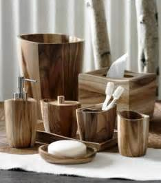 Quot wood bath accessories by kassatex rustic bathroom accessories