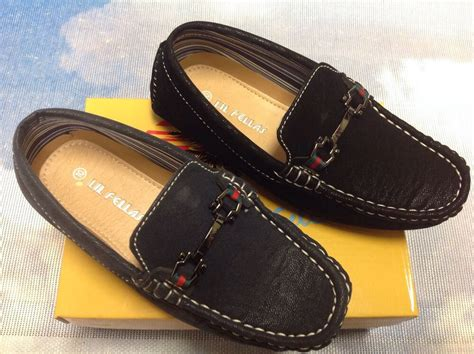 lil fellas boy driving mocs loafer dress shoes toddler size 7 to kid size 2 ebay