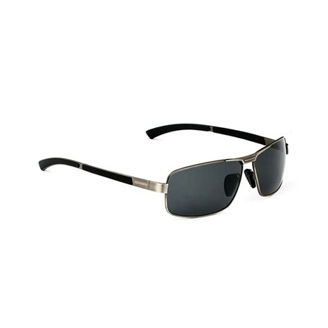 Frame Kacamata Vintage Retro 9606 Gun polarized sunglasses vintage outdoor sports driving square frame gafas eyewear alex nld