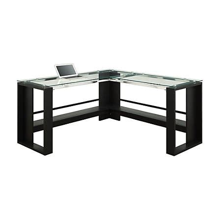 jasper desk office depot whalen jasper l desk espresso by office depot officemax