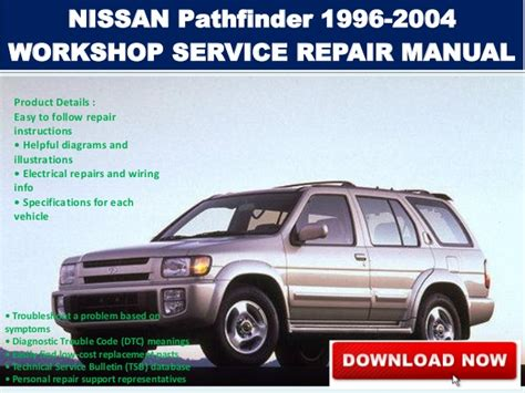 2003 nissan pathfinder r50 suv car auto workshop service repair manual