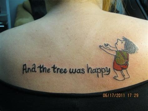the giving tree tattoo 20 beautiful quot the giving tree quot tattoos harpercollins