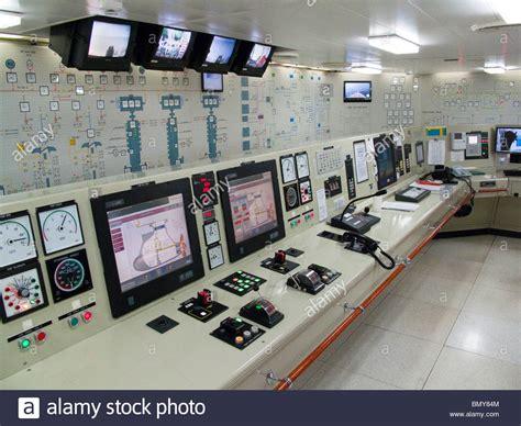 ship engine room design eurodam cruise ship engine control room stock photo