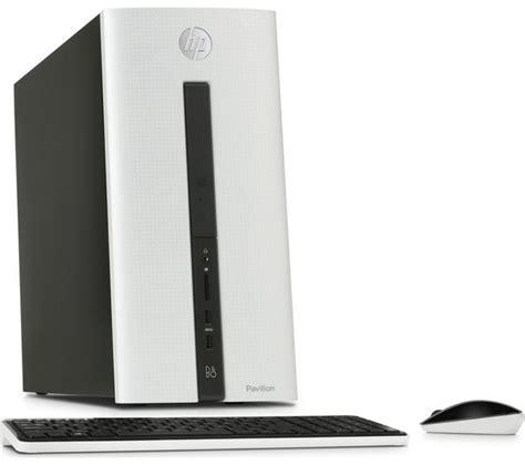white desk top hp pavilion 550 179na desktop pc exclusive white deals