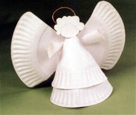 pattern for paper plate angel diy craft and arts
