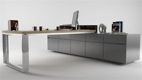 High Quality Office Desks Office Desk High Quality 3d Model Ready Max Obj 3ds Fbx Mtl Cgtrader