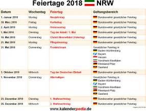 Kalender 2018 Feiertage Feiertage Nrw 2017 2018 2019 Mit Druckvorlagen