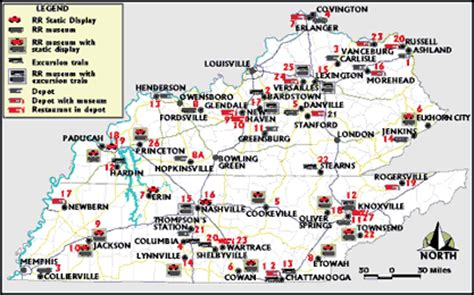 kentucky attractions map kentucky tennessee railroad attractions