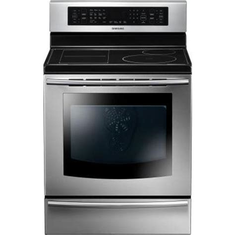 samsung induction range samsung 5 9 cu ft induction range with self cleaning true convection oven in stainless steel