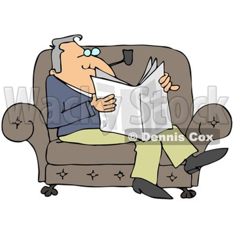 cartoon sitting on couch relaxing on the couch clipart 8