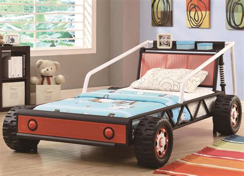 children s race car bed fantasy beds for kids from race cars to pumpkin carriages