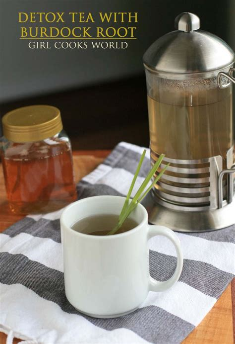 Benefits Of A Liver Detox Tea by Detox Tea With Burdock Root Made From The Burdock Root