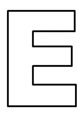 4 best images of printable pages for the letter e letter