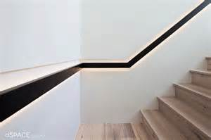 Banister Rail Brackets Continious Blackened Steel Handrail Contemporary