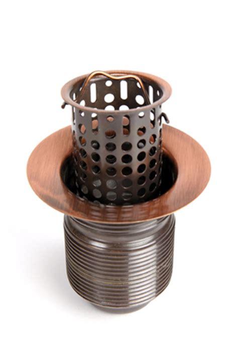 2 bar sink drain 2 quot lift out basket bar sink drain copper sinks